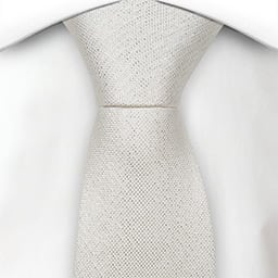Notch Gnistrande White skinny tie